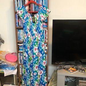 NWT Shoreline Hawaiian Maxi Dress Sz S